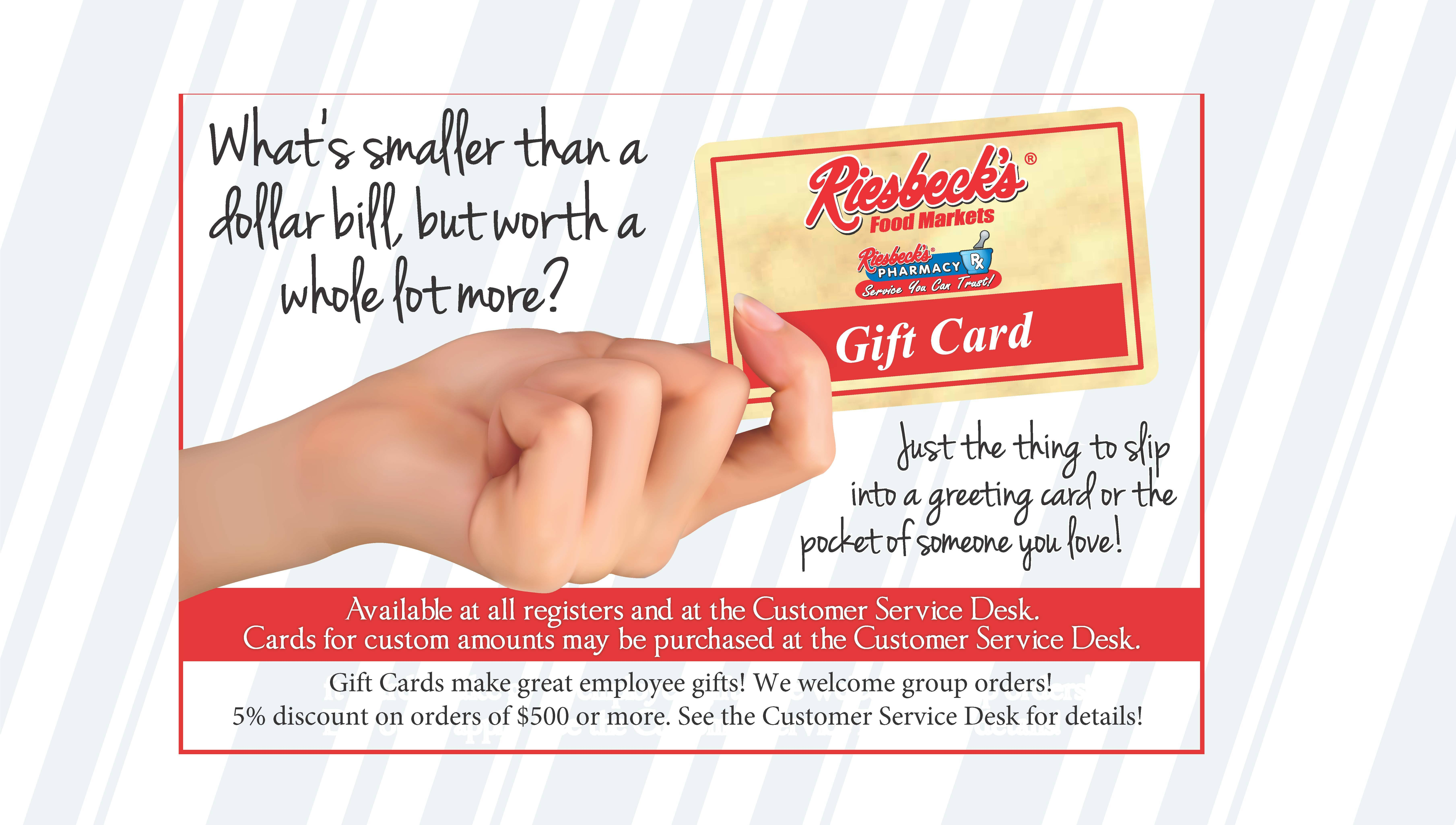 Riesbeck's Gift Cards Available
